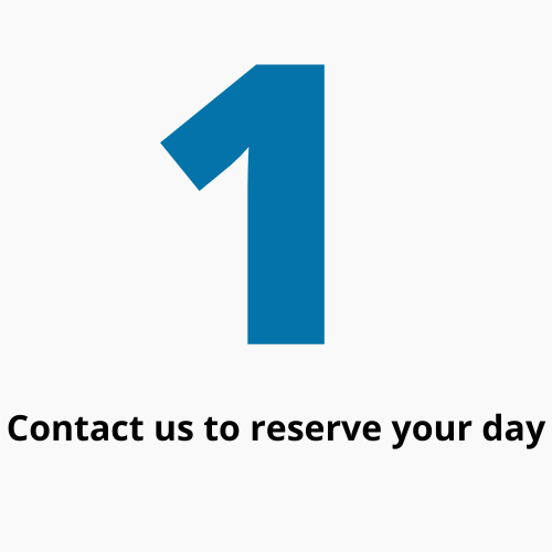 Contact Us To Reserve Your Day