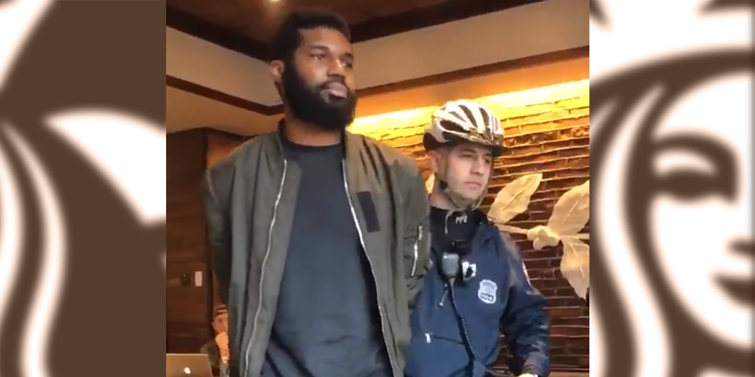 Police Arresting Black Man at Starbucks