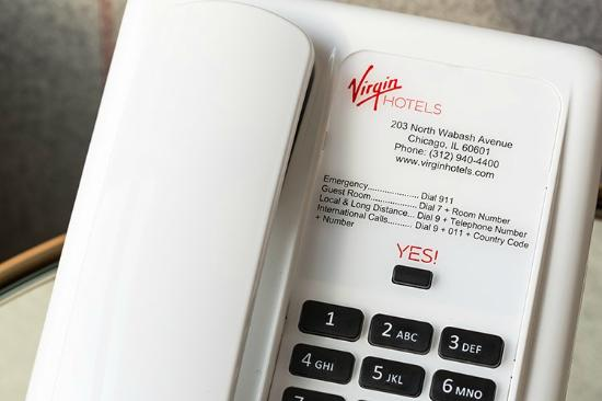Virgin Hotels Yes Phone