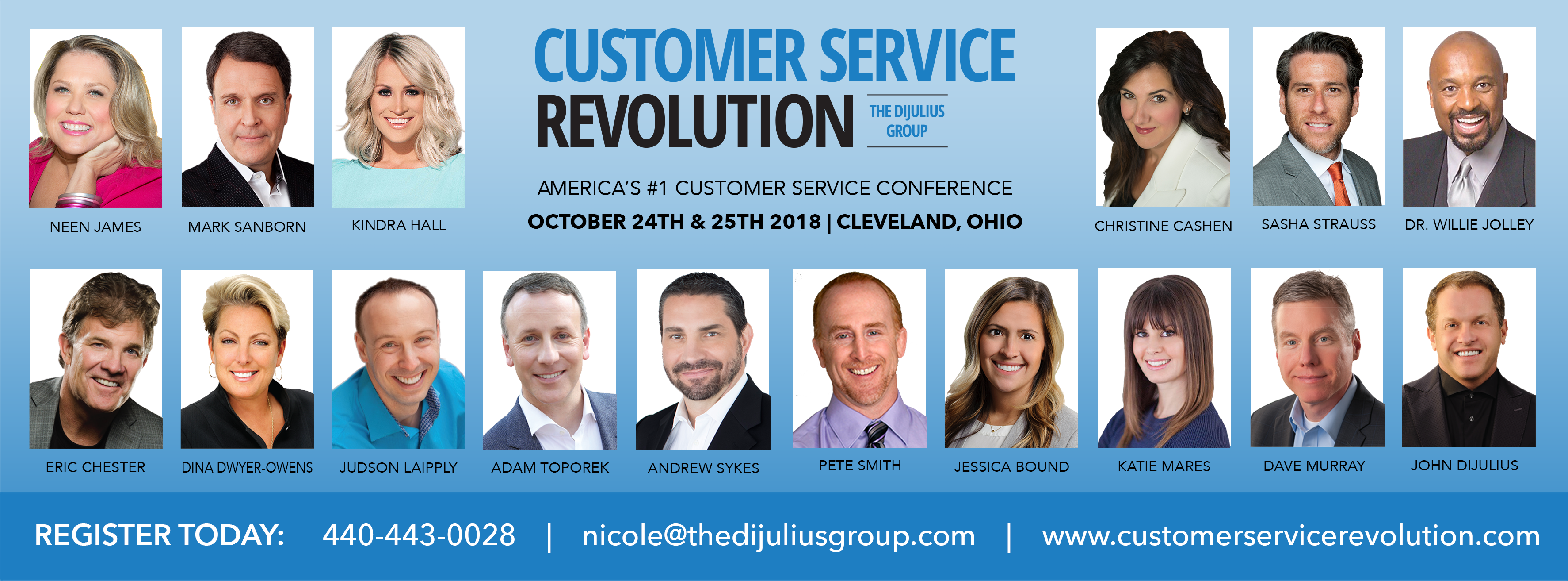2018 Customer Service Revolution Conference Speaker Lineup