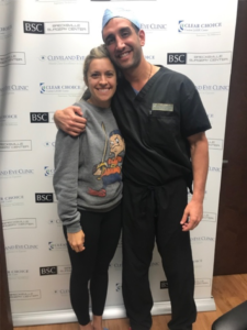 Clear Choice Custom Lasik Center Surgeon with patient Jess Bound of The DiJulius Group