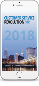 The 2018 Customer Service Revolution Conference App, Which Can Be Downloaded in The Apple App Store or on the Google Play Store