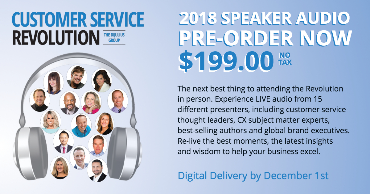 2018 Customer Service Revolution Conference Speaker Audio