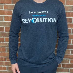 MEN'S / UNISEX LONG SLEEVED BLACK T-SHIRT