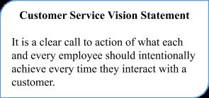 Customer service Vision Statement